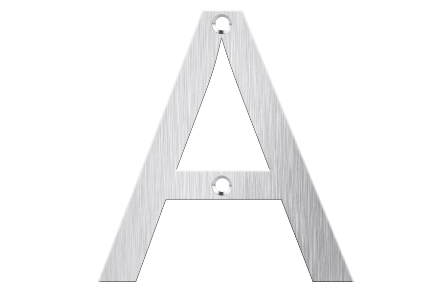 LASNUM A Stainless Steel Door Sign - SS